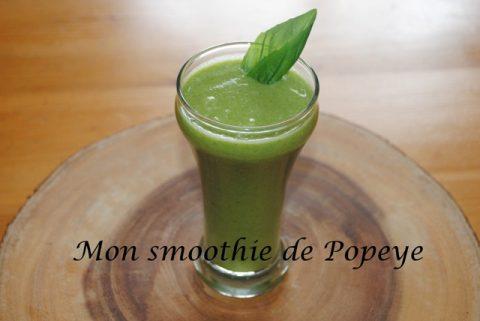 Mon smoothie de Popeye