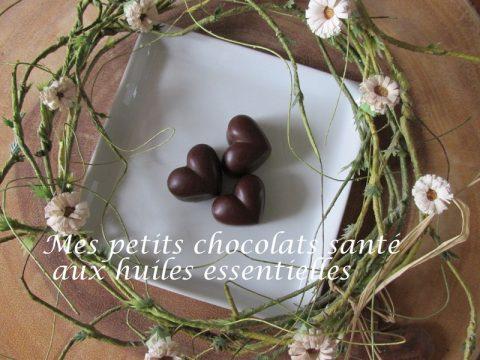 Mes petits chocolats santé aux huiles essentielles